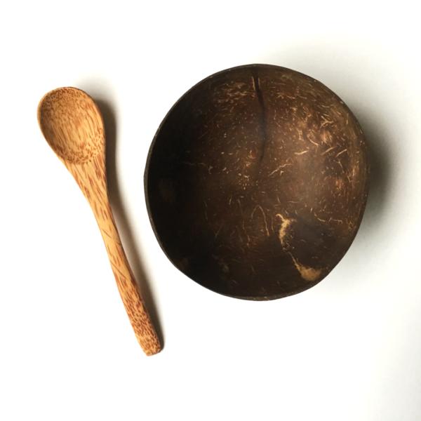 Coconut Bowl y Cuchara Sin Plástico