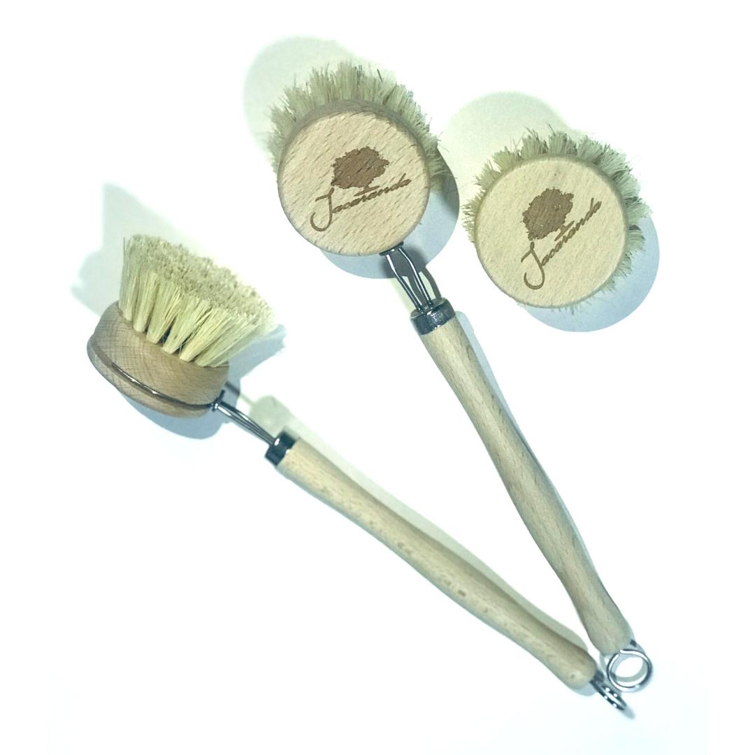 Cepillo Lavaplatos de bambú Sin Plástico