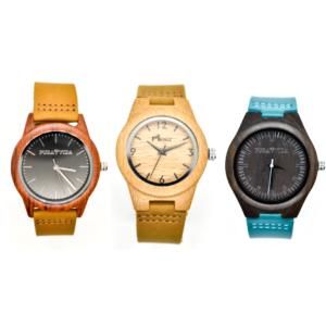 Reloj de madera sin plástico