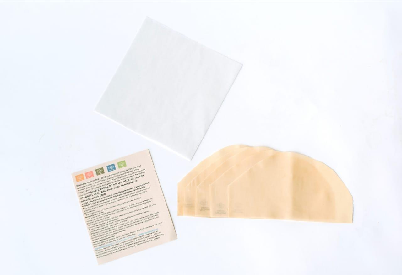 Mascarilla tela biodegradable COVID-19