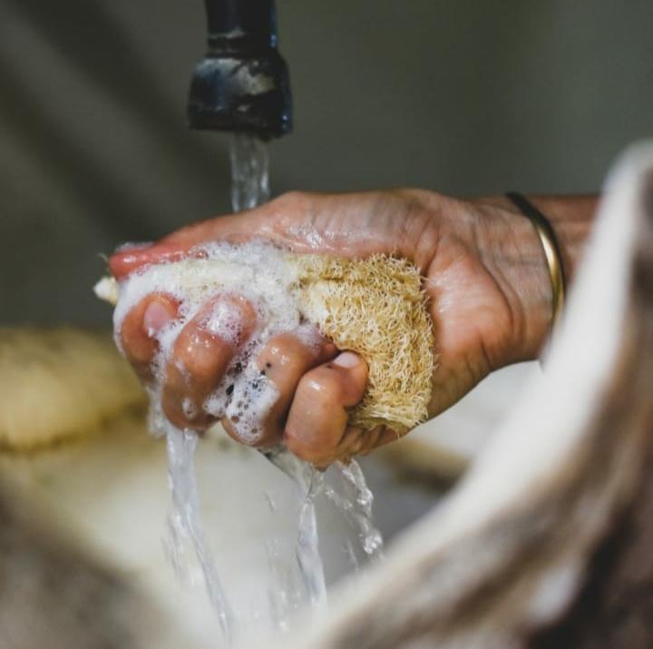 Esponja Biodegradable Cocina - Jabón Lavaplatos Natural