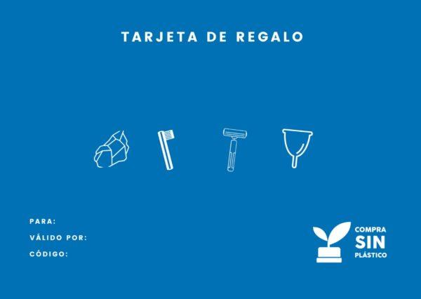 Tarjeta de regalo estilo de vida sostenible y libre de plástico
