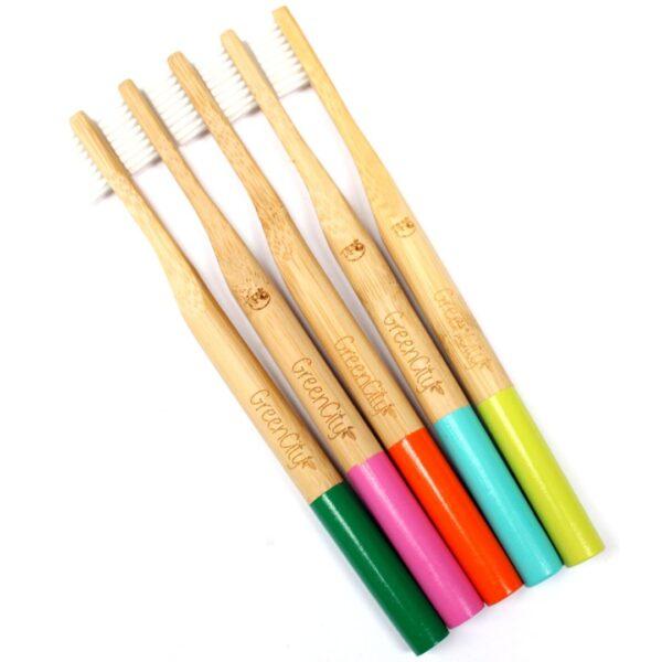 Cepillo de bambú medio y duro