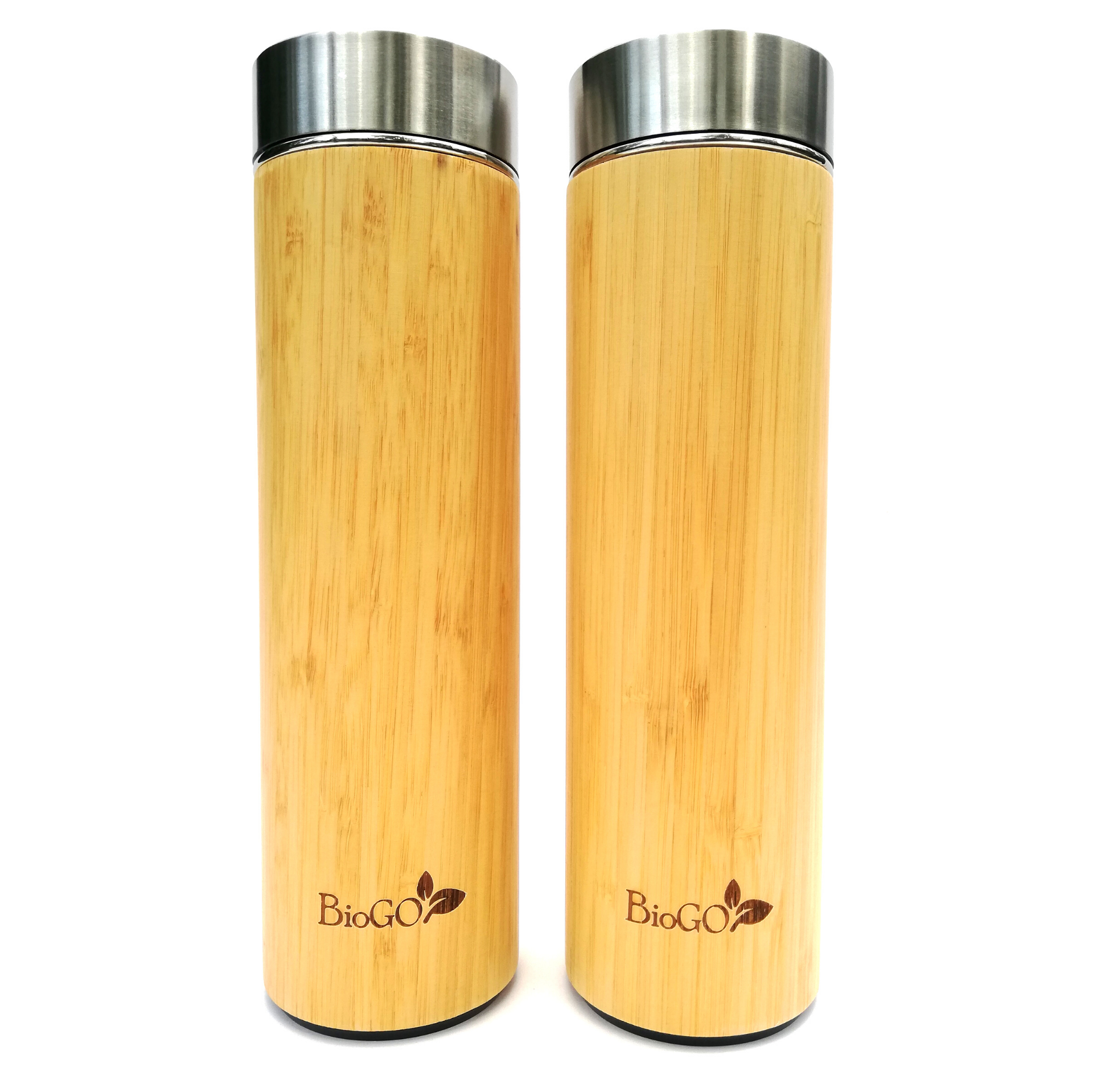 Botella Térmica de Bambú