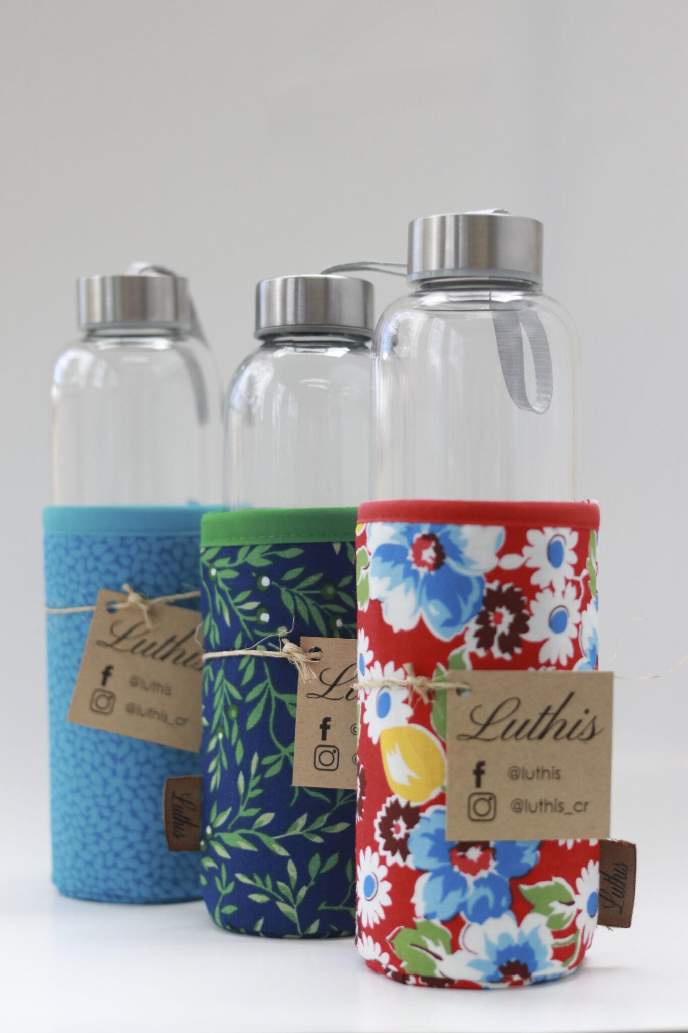 botella de vidrio reutilizable