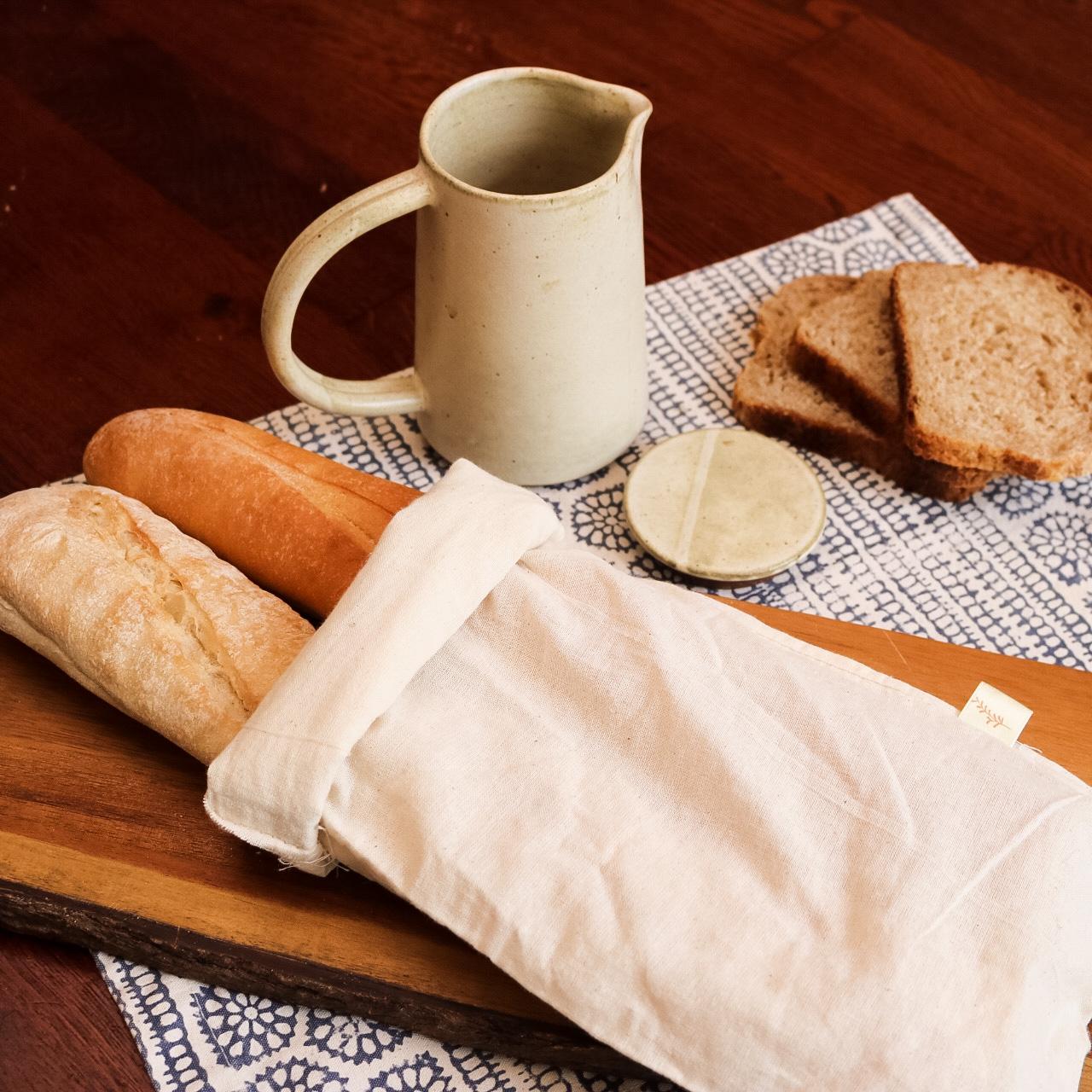 bolsa para pan de algodón orgánico