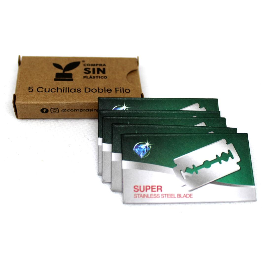 Cuchillas de Acero Inoxidable Rasuradora Reutilizable Ecológica